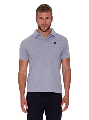 Polo Club Polo Custom Fit Escudo Liso (Gris Vigoré)