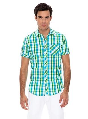 Springfield Camisa Cuadros Color (Turquesa)
