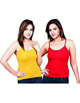 Clifton Women's Camisole's Pack of 2 Pieces - Mango-Red - XX-Large