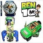 Ben10 Toy Car + Boxing Kit + Watch