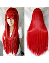 Womens Fashion New Long Straight Full Hair Wigs Cosplay Costume Party 8 Colors Red AD