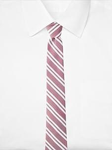 Original Penguin Men's Othello Stripe Tie (Magenta)