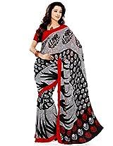 Ethnic Queen Georgette Black Colour Saree