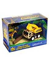 Zoo Builders & Giraffe Backhoe Set