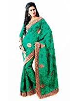 Orbymart Green Color Bhagalpuri Silk Saree - 55190566