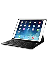 Fintie Wireless Keyboard Case Ultrathin SmartShell Dual-View Stand Cover with Built-In Bluetooth Keyboard for iPad Air 2, Black (EPF0143AD-US)