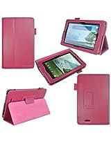 i-design Asus MeMO Pad 7 inch Tablet ME172V /ME176CX / ME176C Premium Leather Case with Flip Stand, Stylus Loop (Asus MeMO Pad 7, Magenta)