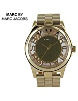Marc by Marc Jacobs Henry Skeleton Gold-Tone Ladies Watch