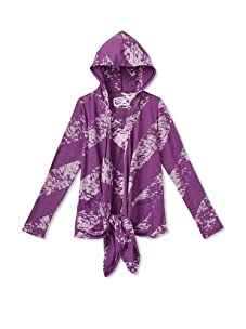 Erge Girl's 7-16 Splash Stripe Cirque Cardigan (Vivid Purple)