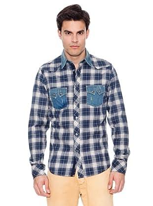Pepe Jeans London Camisa Drumfire (Marino / Blanco)