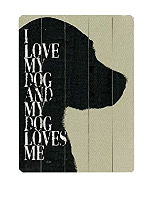Artehouse I Love My Dog Wood Wall Décor