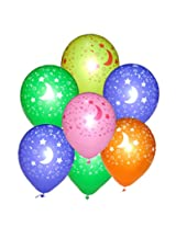 Tiger 50189 Moon - Stars Printed Balloons Multicolor (Pack of 50)