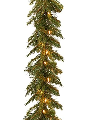 National Tree Company 9' Tiffany Fir Garland with Clear Lights
