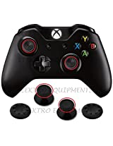 XBOX ONE Controller Replacement Plastic 3D Joystick Cap with Black Anti-slip Silicone Cover(1 Pair each) and Torx T8 Security Screwdriver