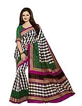 Black White Color Art Bahgalpur Silk Saree with Blouse 12539