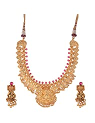 Jeweleteria Jade Stones Gold Plated Metal Alloy Necklace Set For Women - B00MGRGF0O