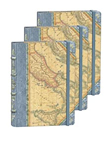 Punch Studio Set of 3 Library Journals (Map)