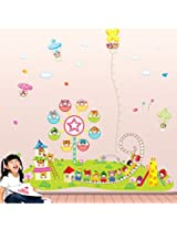 UberLyfe Lil Town Height Chart Wall Sticker for Nursery Room - XL 3 Sheets