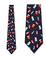 Pills Allover Tie Pharmacist NeckTies by Ralph Marlin