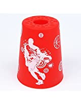 YJ Stacking Cups Speed Flying Rapid Cups 12 Pieces UFO Cups Red