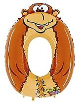 """#0 Gorilla Zooloon 40"""" Mylar Balloon"""