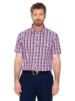 Cortefiel Camisa Cuadros (rojo / azul / blanco)