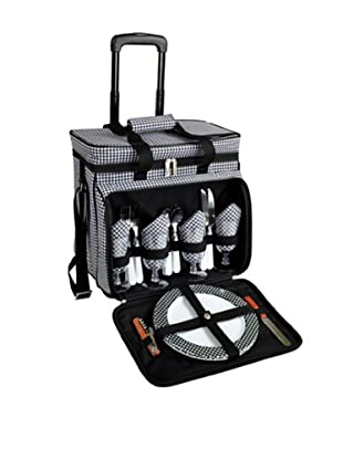 Picnic at Ascot Picnic Cooler for 4 with Wheels, Houndstooth