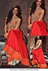 Bollywood Replica Deepika Padukone Georgette Suit In Red and Gold Colour NC270