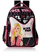 Simba 40 litres Black and Pink Children's Backpack (St-Slrt-2009-16)