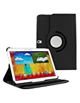 HOKO Black 360 Degree Rotating Leather Smart Cover Case Stand for Samsung Galaxy Note 10.1 SM-P601 (With Wake/Sleep)