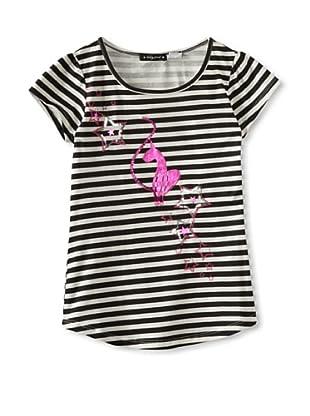 Baby Phat Girl's 7-16 Stripe Logo Tee (Cream)