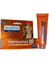 University Medical Acnefree Terminator 10 Time-Released 10% Benzoyl Peroxide Medicated Spot Treatment 1 Fl Oz