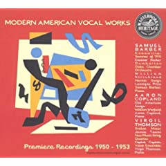 HERITAGE Modern American Vocal Works - Barber, Copland, Thomson