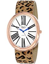 TKO ORLOGI Women's TK617-RLP Watch with Leopard Genuine Leather Band