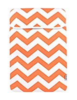 TopCase Chevron Series Orange Sleeve Bag Cover for New Released Macbook 12 12-Inch Model : A1534 Retina Notebook