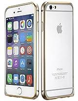 Dual Tone Circular Arc Shaped Metal Bumper Case Cover for iPhone 6 Plus - Gold