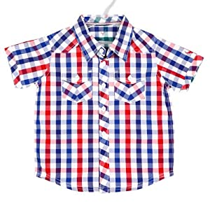 Allen Solly Red Half Sleeves Cotton Boys - Casual Shirts