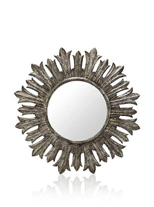 Cooper Classics Fairview Mirror, Silver Crackle