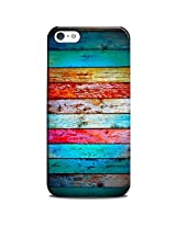 CASE U Back Cover Weathered Wood Rainbow Designer Case for Apple iPhone 5C
