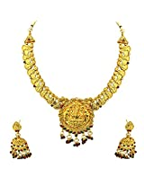 Traditional Gold Plated Necklace & Bali Earring Fashion Jewellery Set for Women