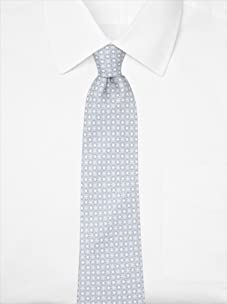 Nina Ricci Men's Floral Dot Tie, Grey