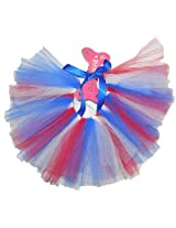 PAWPATU Tulle Tutu for Dogs or Cats, X-Large, Red/White/Blue
