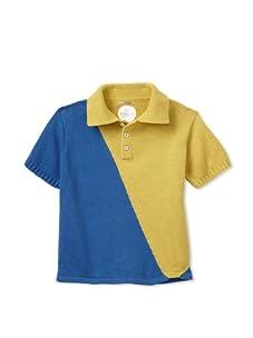 Kicokids Boy's Diagonal Colorblock Polo (Gilles)