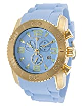 Commander Chronograph Gold-Tone Steel Case Light Blue Silicone (10067-Yg-012)