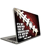 MacBook Air or Pro (13 inch) Vinyl Removable Skin- Vince Lombardi Quote - Football Design - It's not whether...