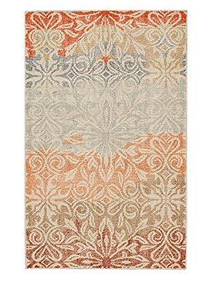eCarpet Gallery One-of-a-Kind Hand-Knotted Jules Ushak Rug, Blue/Orange, 4' 10