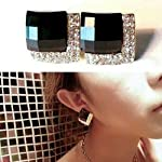 Beautiful stud earrings in black color