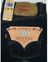 501 LEVI'S JEANS MENS NWT 501-0115 INDIGO BLUE PRESHRUNK