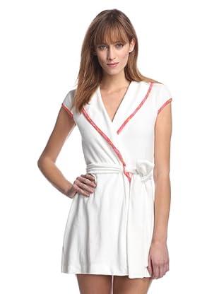 Betsey Johnson Women's Baby Terry Short Robe (White)