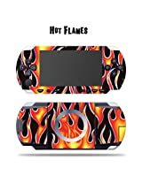 Mightyskins Protective Vinyl Skin Decal Cover Sticker For Sony Psp Hot Flames